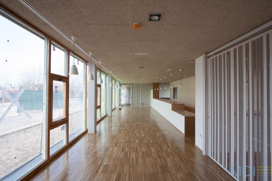 pavimentos, techos, iluminación, carpintería...
